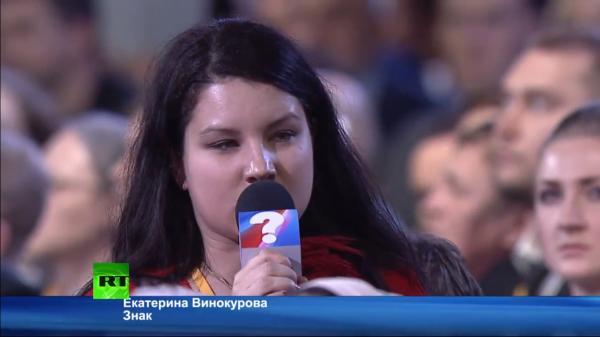 Путинская политпроститутка Винокурова:  «Всё было так хорошо, пока не появился Навальный»