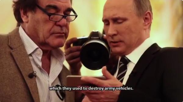 Путин показывают Стоуну фейковое видео