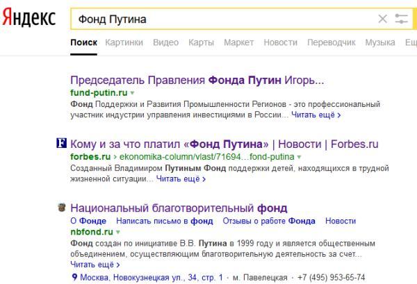 Фонд Путина