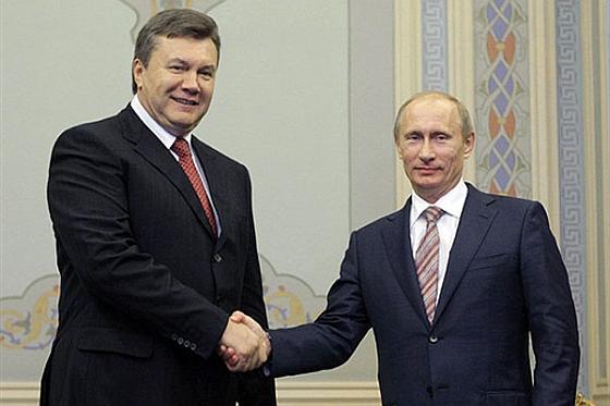 Янукови и Путин
