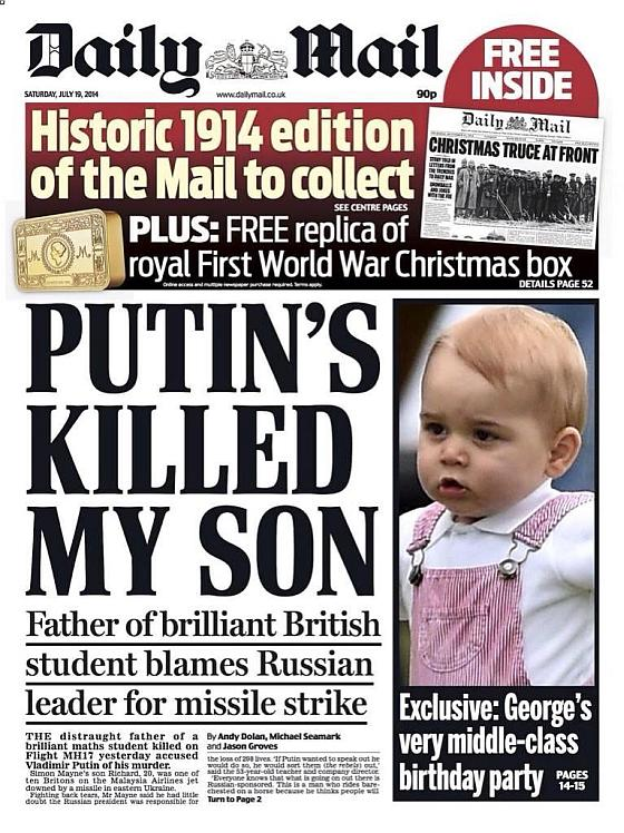 Putin's killed my son