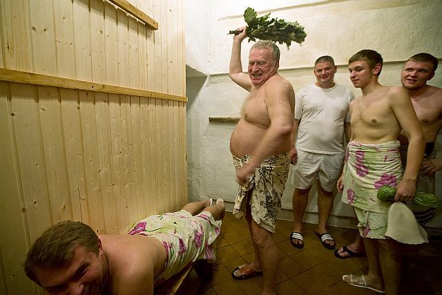 Политическая работа в бане