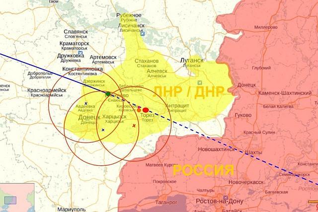 Точки размещения «украинских» Буков обозначены крестиками