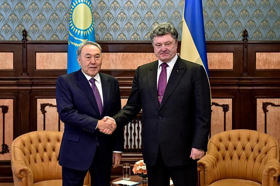 Назарбаев и Порошенко