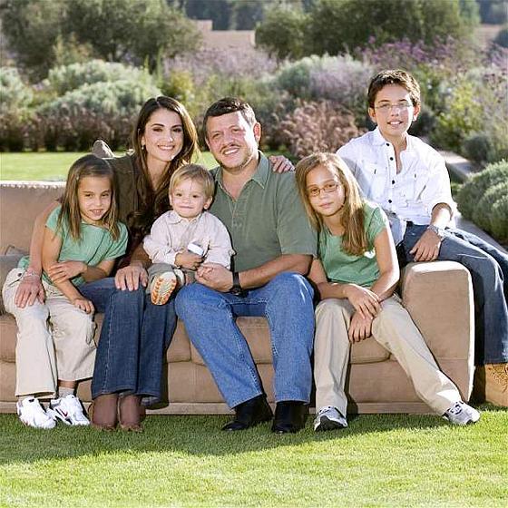 Король Иордании Абдалла II и его семья