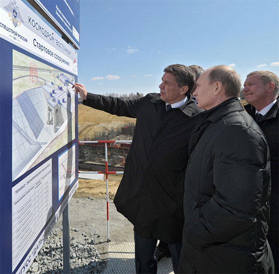 Путин на строительстве космодрома