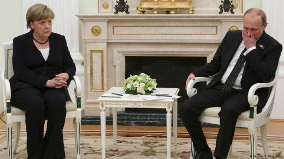 Ангела Меркель и Владимир Путин в Москве, 10 мая 2015 г