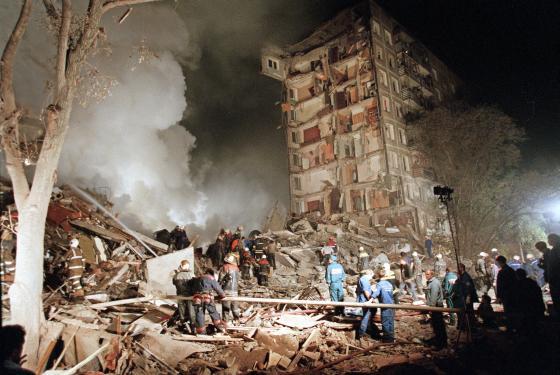 Взрыв жилого дома в Москве по улице Гурьянова