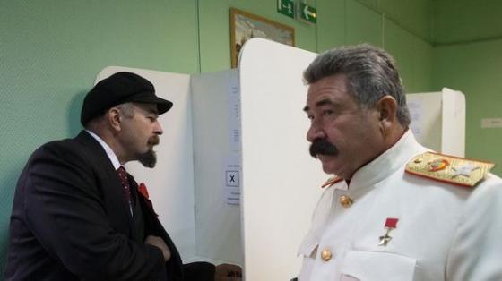 Сталин Ленина избил