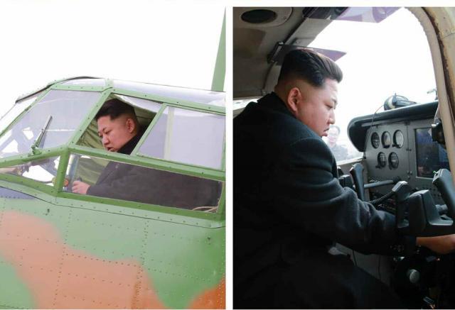Ким Чен Ын пилотирует самолёт