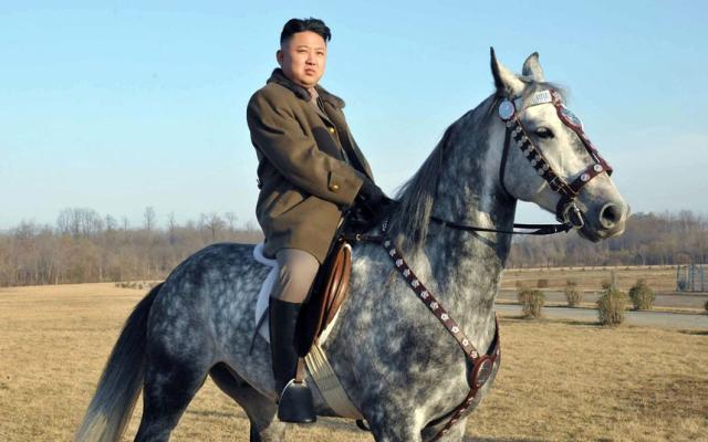 Ким Чен Ын на лошади