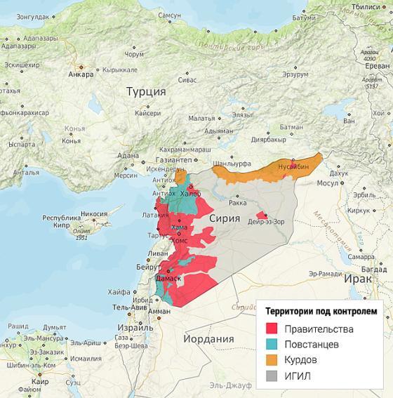 Сирия Карта