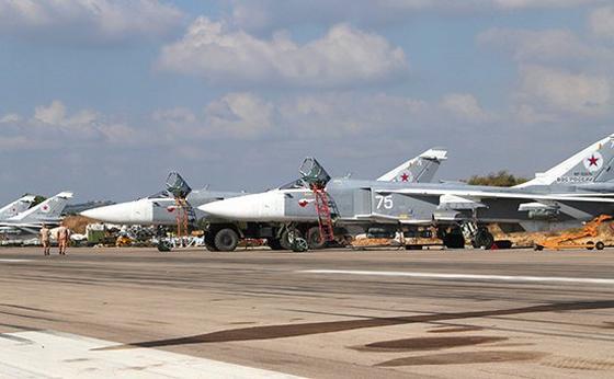 Российская боевая авиагруппа на авиабазе «Хмеймим» в Сирии