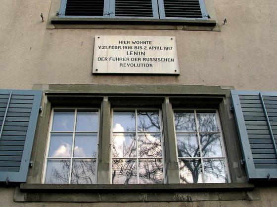 Дом в Швейцарии, где жил В.И.Ленин