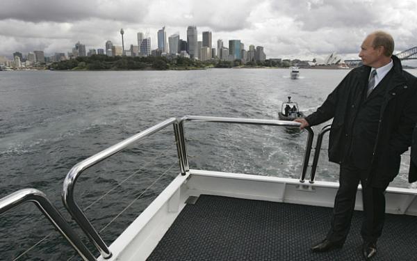 Путин на своей яхте