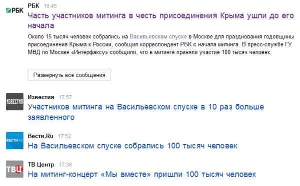 Митинг за Крым