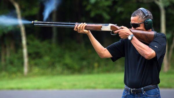 Обама хороший охотник