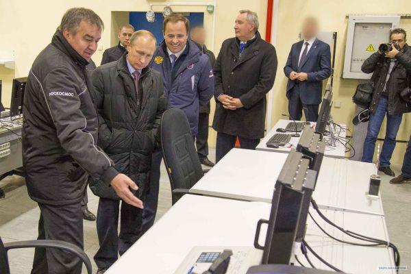 Путин на космодроме