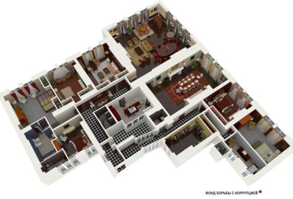 Планировка несмешной квартира Шувалова в Лондоне