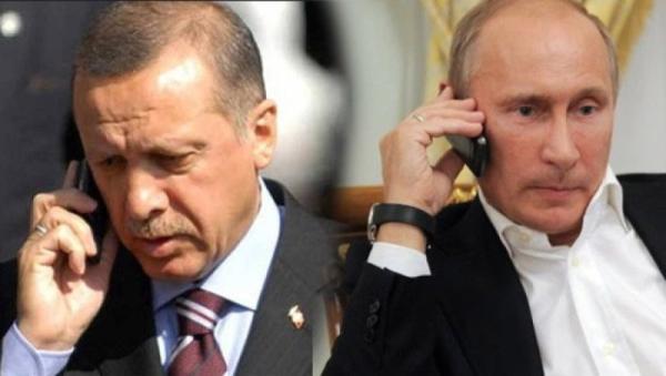 Путин разговаривает с Эрдоганом