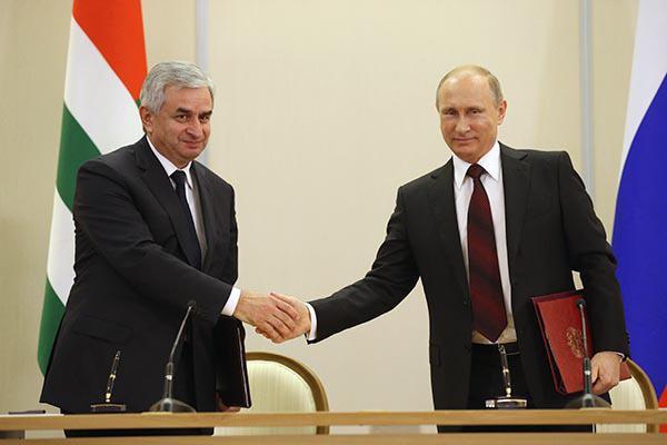Хаджимба и Путин