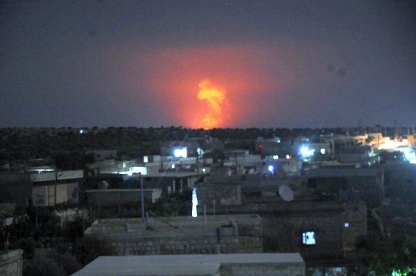 Гигантский взрыв в Сирии. Аль-Сафира