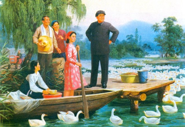 На гусиной ферме 76 год Чучхе (1987)