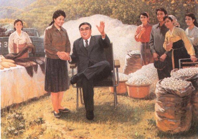 Ким Ир Сен ведет работу над тем, чтоб народ носил одежду из самых качественных материалов