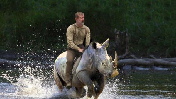 Мальцев и носорог