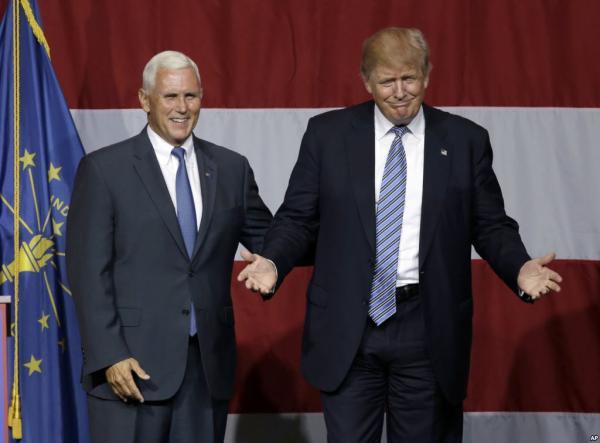 Пенс и Трамп