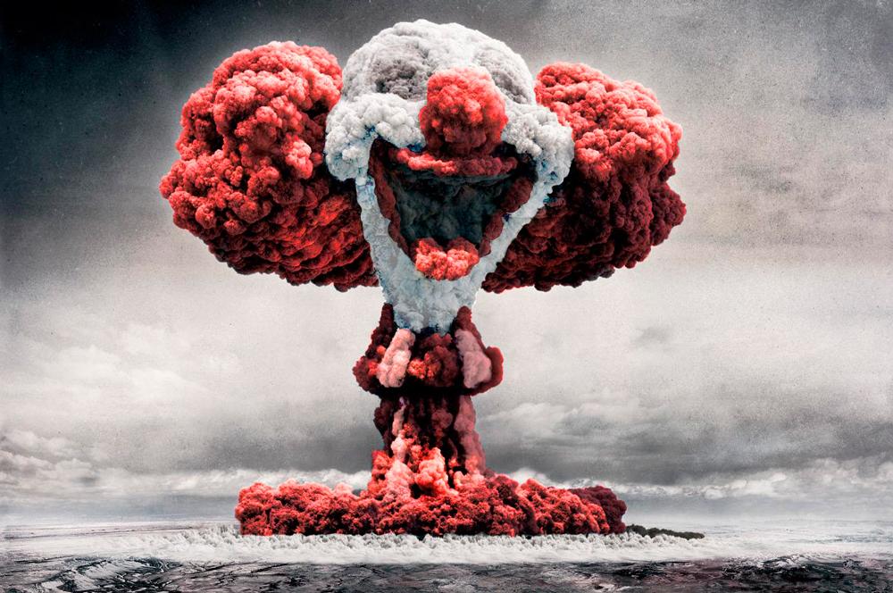 Высока вероятность сброса ядерной бомбы на человека-г*овно 99%!