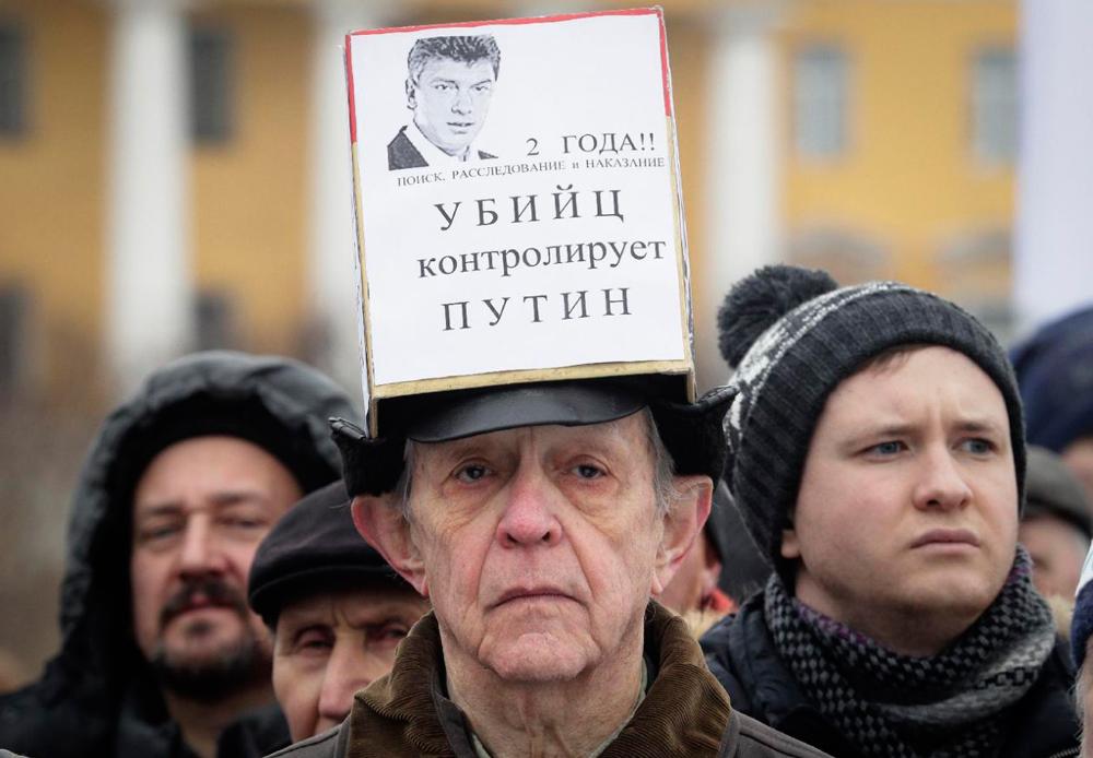 Марш памяти Немцова глазами американцев