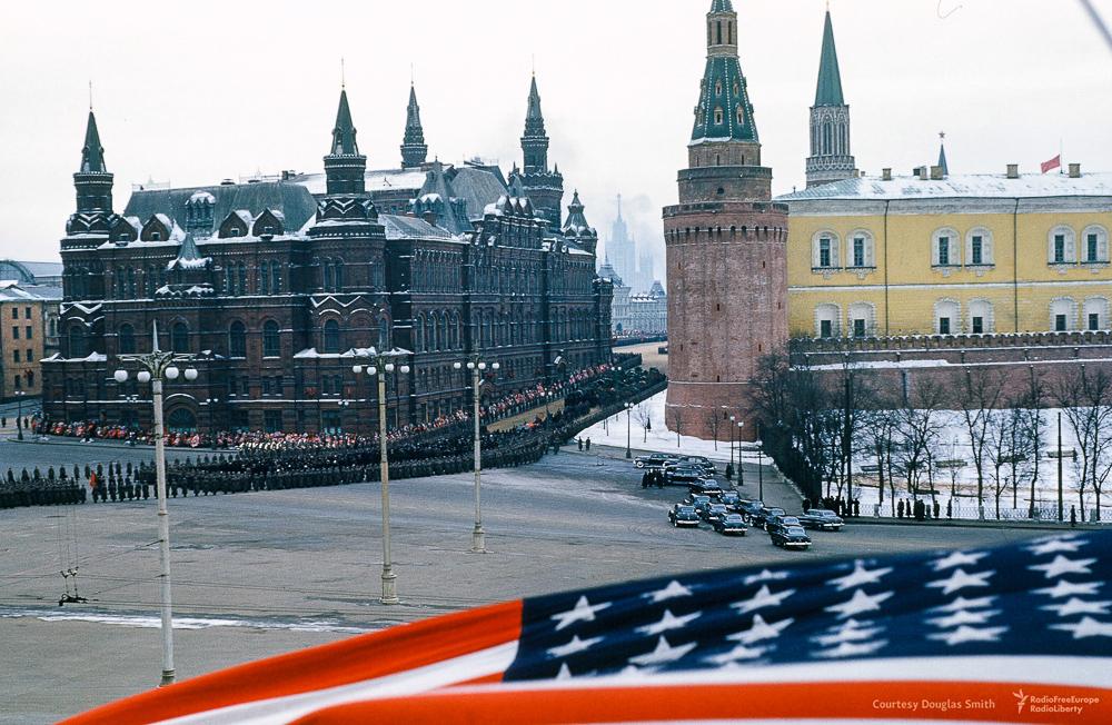 Американские шпионские снимки похорон Сталина