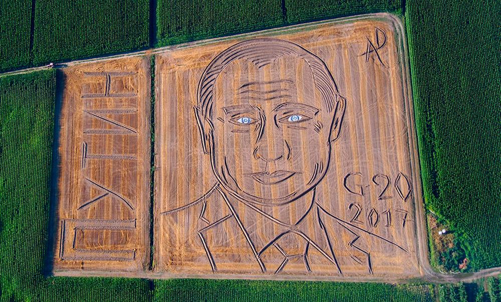 135-метровый Путин в Италии