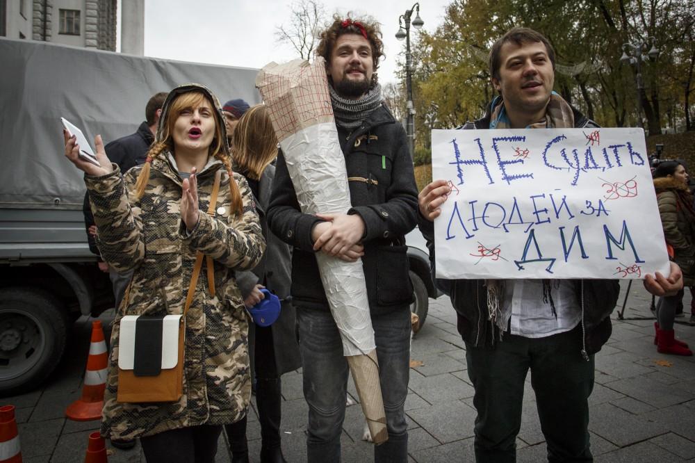 Конопляный марш в Киеве