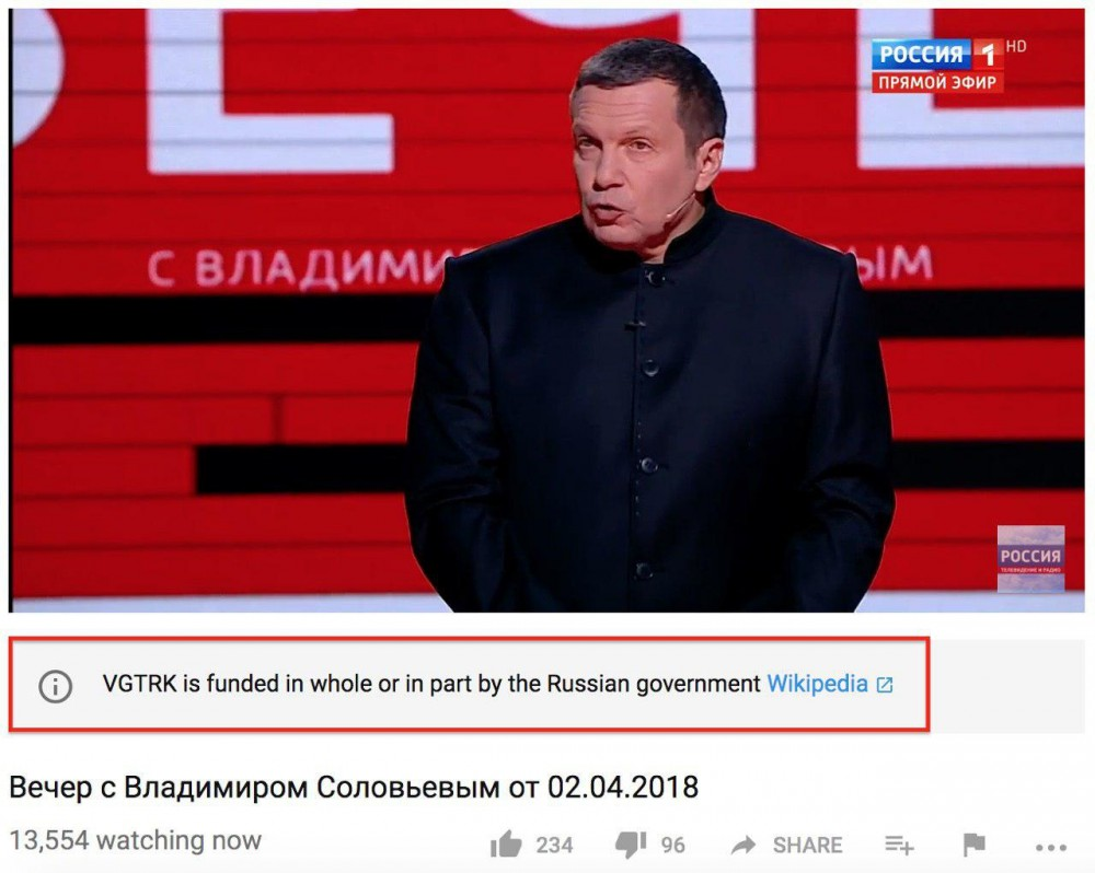 """Youtube ставит """"черные метки"""" российским роликам"""