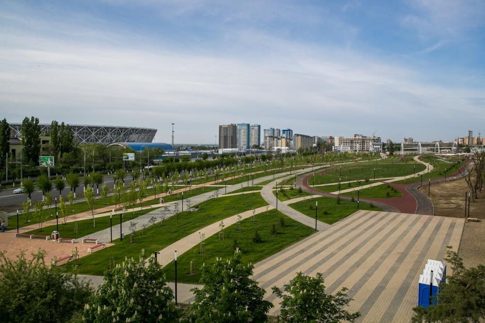 Новый парковый комплекс у подножия Мамаева кургана