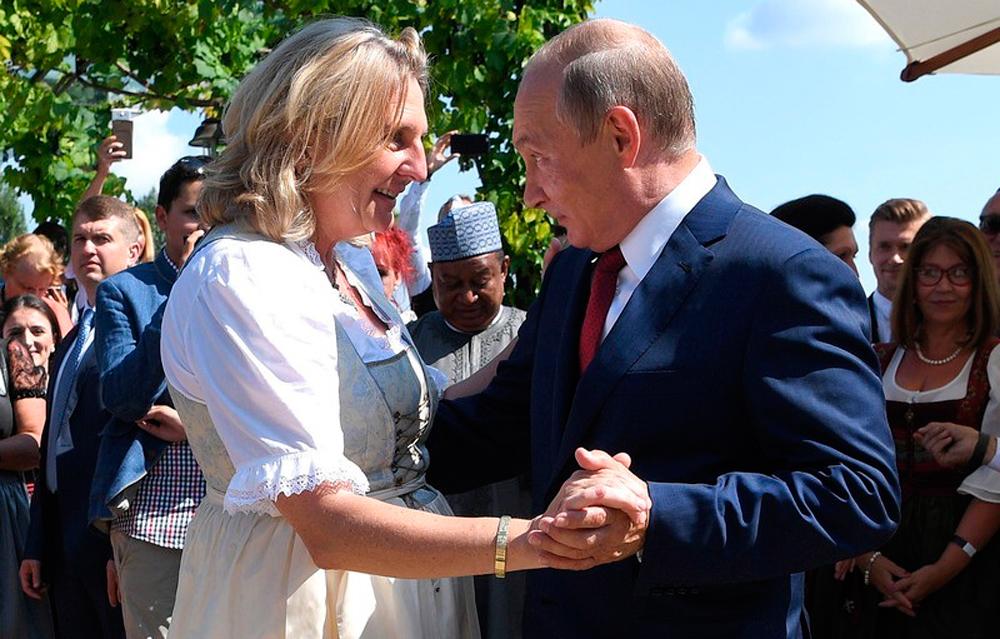 Путин на свадьбе в Австрии