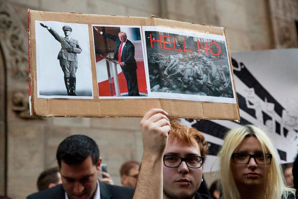 Протесты против Дональда Трампа в Нью-Йорке - фоторепортаж
