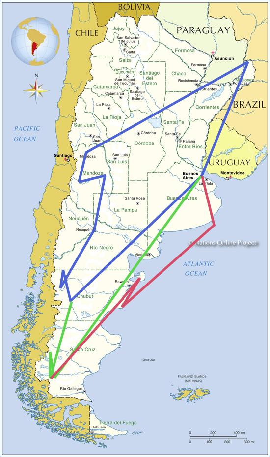 Мегатур в Аргентину 2013