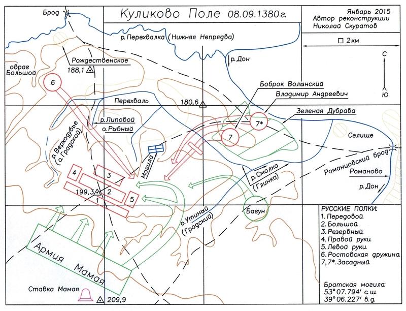 Куликово Поле — карта-схема