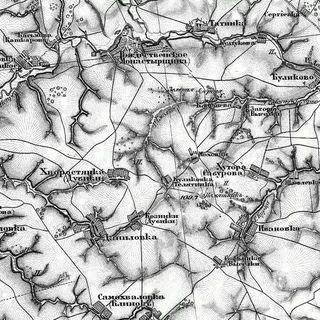 Куликовка-телятинка на карте Шуберта 1874 года