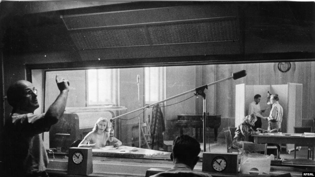 Первая студия Радио Свободная Европа. Мюнхен, 1950-е годы