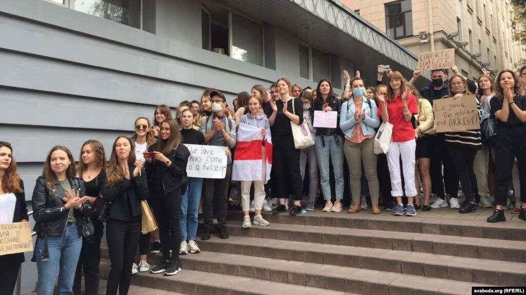 Студенческая акция протеста в Минске