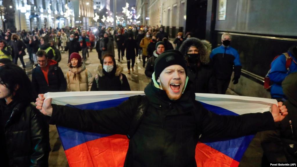 Акция в поддержку Алексея Навального в Москве, 2 февраля 2021 года