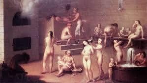 Женщины и мужчины без одежды в бане фото 212-878