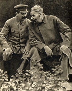 Писатели Горький и Сталин