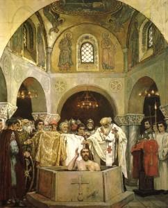 Крещение князя Владимира в соборе
