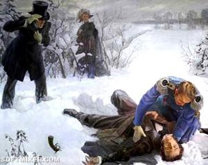 Пушкин дуэль картина