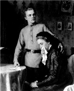 Ленин и мать